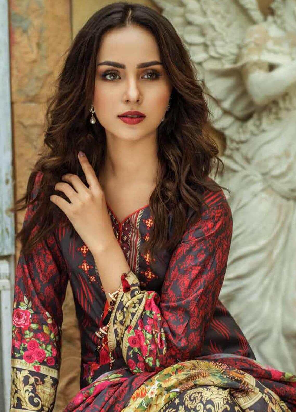 Al Zohaib Printed Cotton Silk Unstitched 3 Piece Suit AZ18CS 26 - Premium Collection