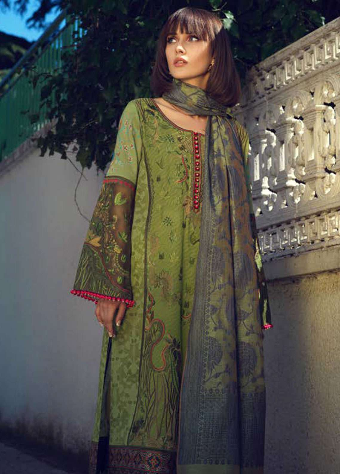 Tena Durrani Embroidered Lawn Unstitched 3 Piece Suit TD19L 14A ALAYNA - Spring / Summer Collection