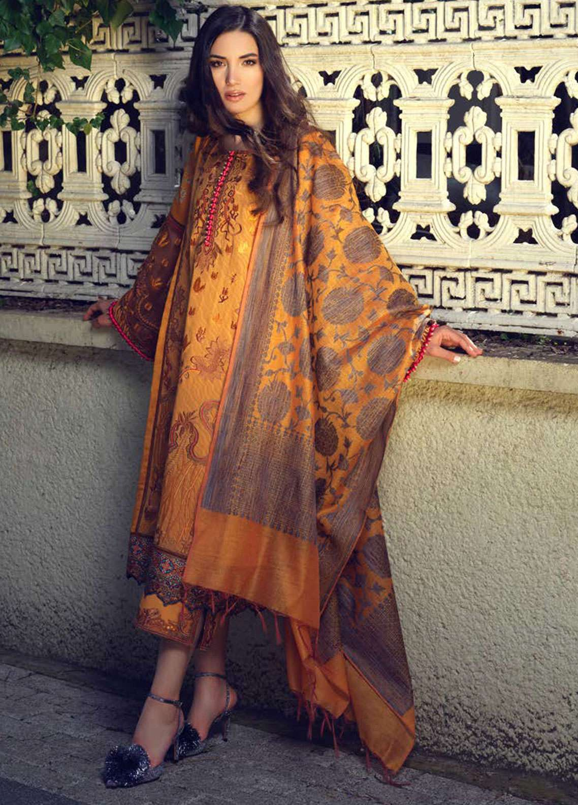 Tena Durrani Embroidered Lawn Unstitched 3 Piece Suit TD19L 14B ALAYNA - Spring / Summer Collection