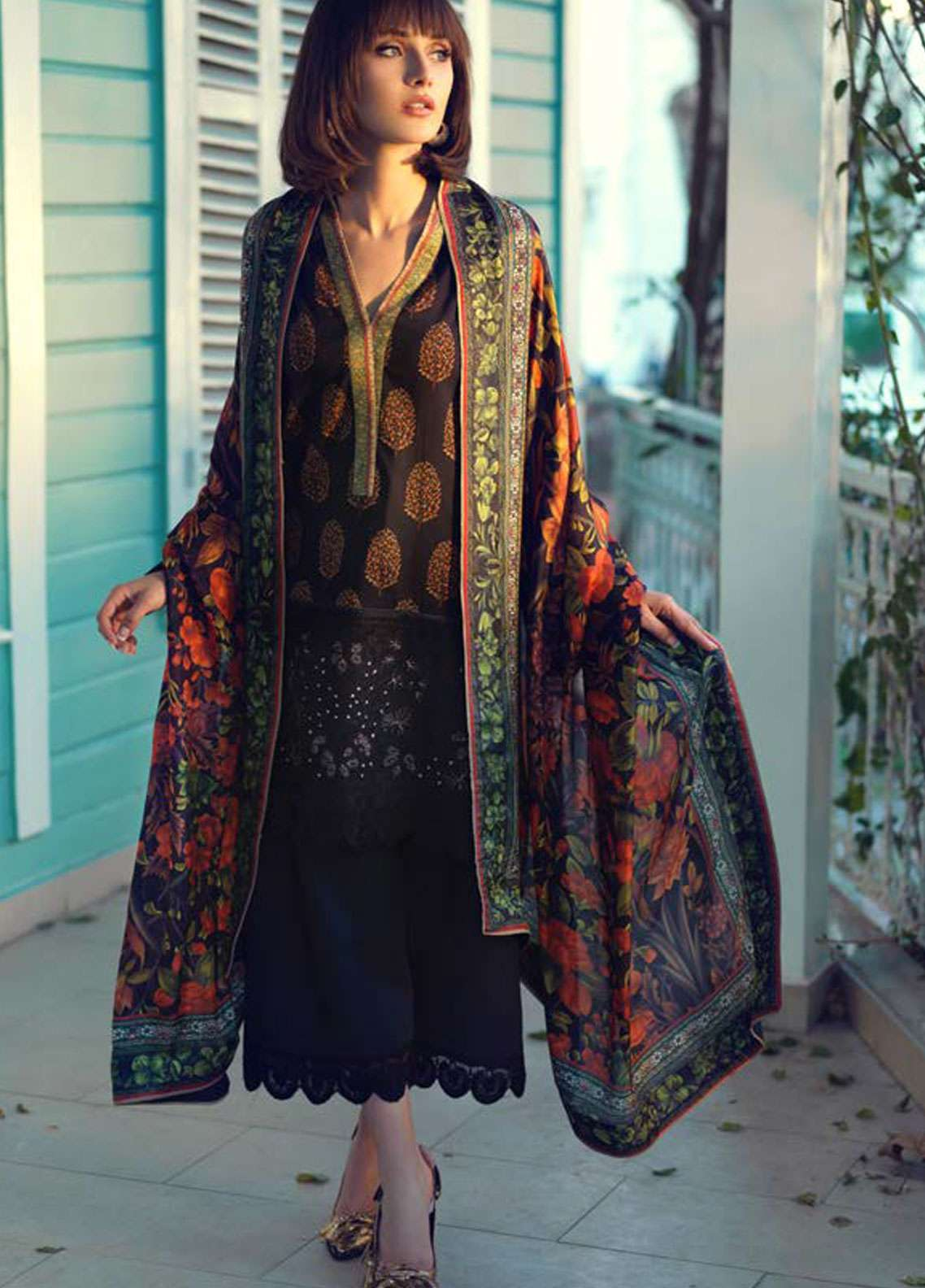 Tena Durrani Embroidered Lawn Unstitched 3 Piece Suit TD19L 9A CARNATION - Spring / Summer Collection