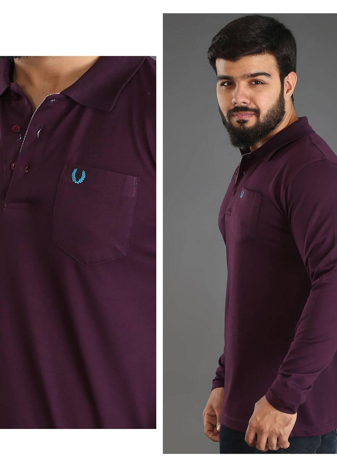 UC Clothing Jersey Polo Men Shirts - Maroon UC18PS 02
