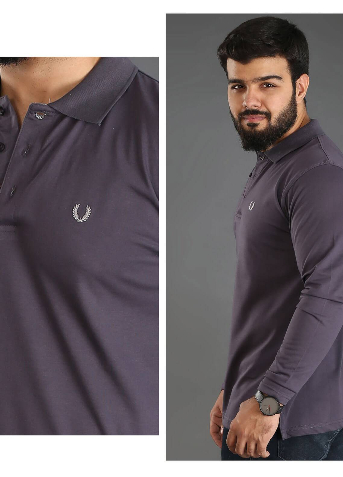 UC Clothing Jersey Polo Shirts for Men - Grey UC18PS 05