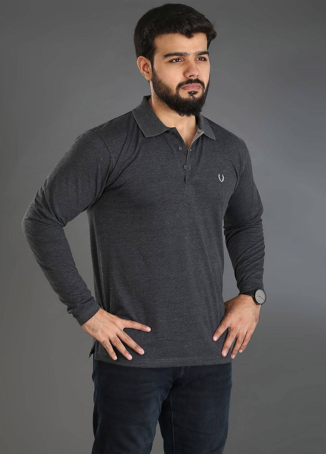 UC Clothing Jersey Polo Men Shirts - Grey UC18PS 06