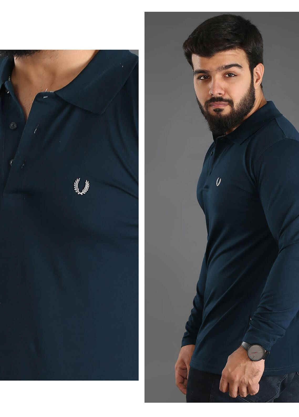 UC Clothing Jersey Polo Shirts for Men - Green UC18PS 07