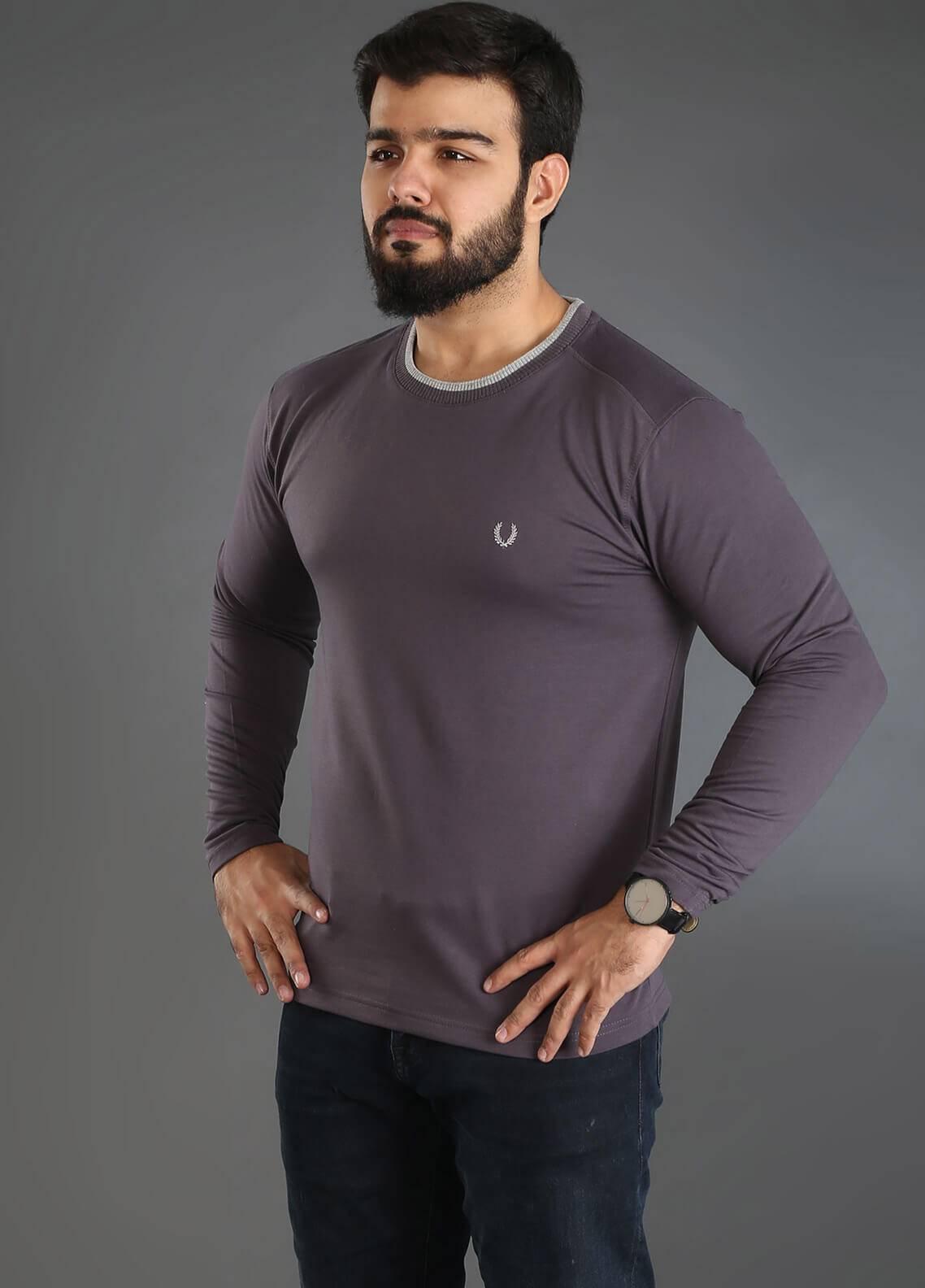 UC Clothing Jersey Plain Texture Men T-Shirts - Ash Grey UC18TS 04