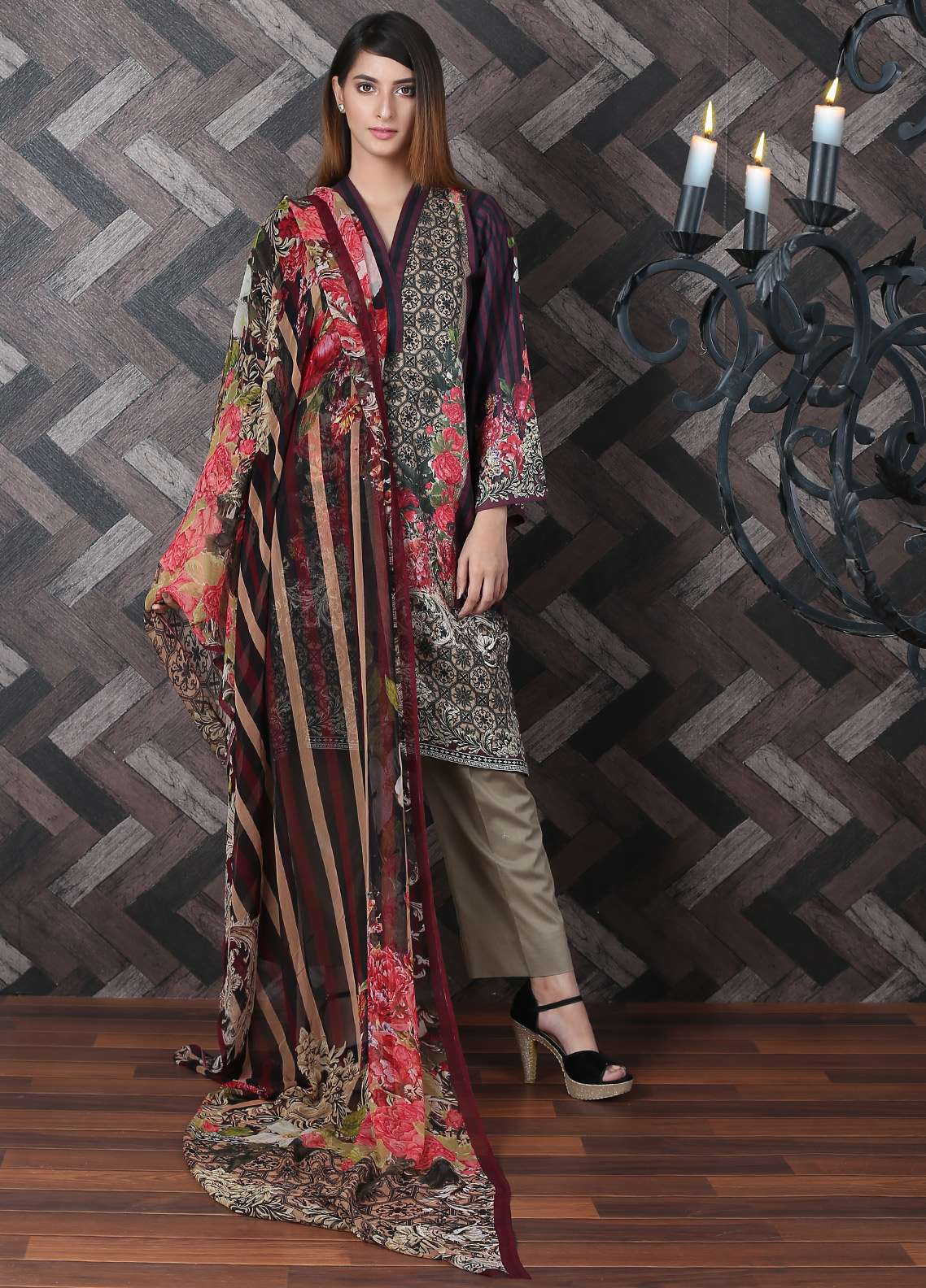 Waniya Printed Lawn Unstitched 2 Piece Suit UNS-175 - Spring / Summer Collection
