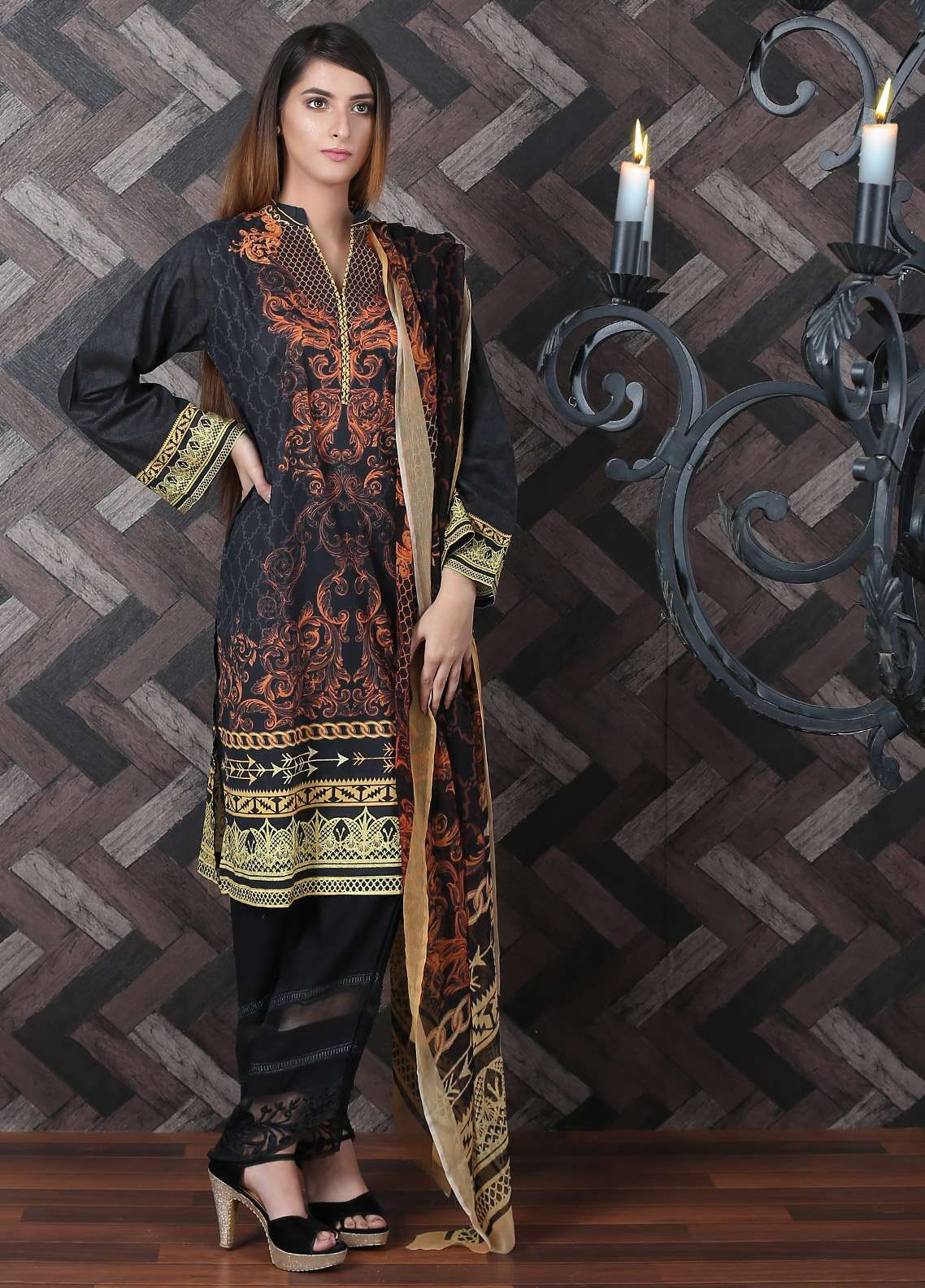 Waniya Printed Lawn Unstitched 2 Piece Suit UNS-177 - Spring / Summer Collection