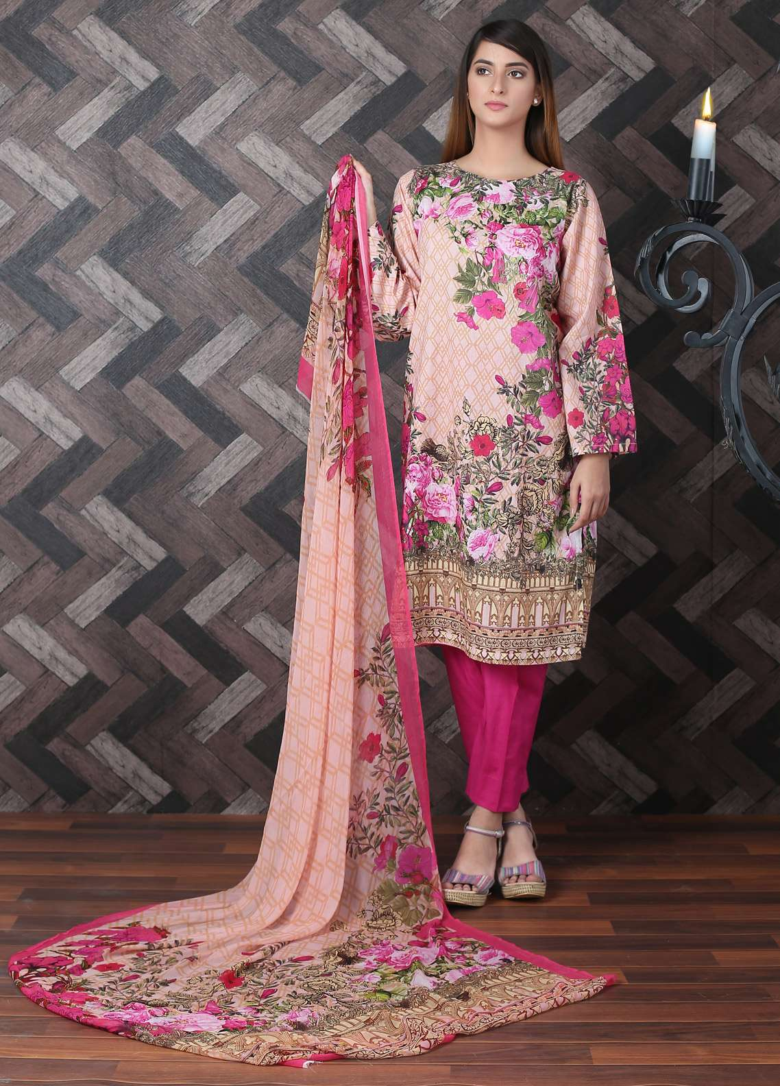 Waniya Printed Lawn Unstitched 2 Piece Suit UNS-178 - Spring / Summer Collection