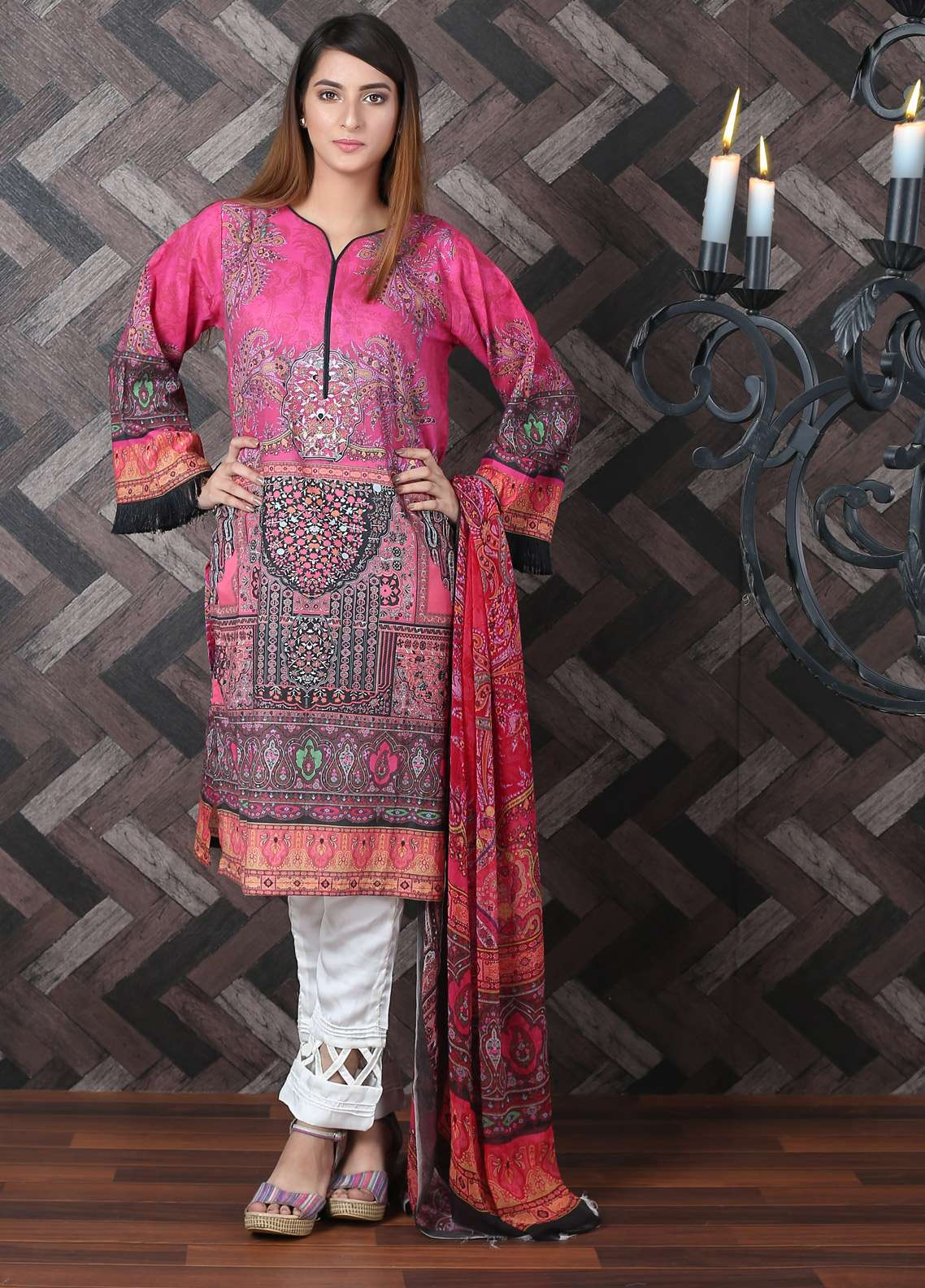 Waniya Printed Lawn Unstitched 2 Piece Suit UNS-180 - Spring / Summer Collection