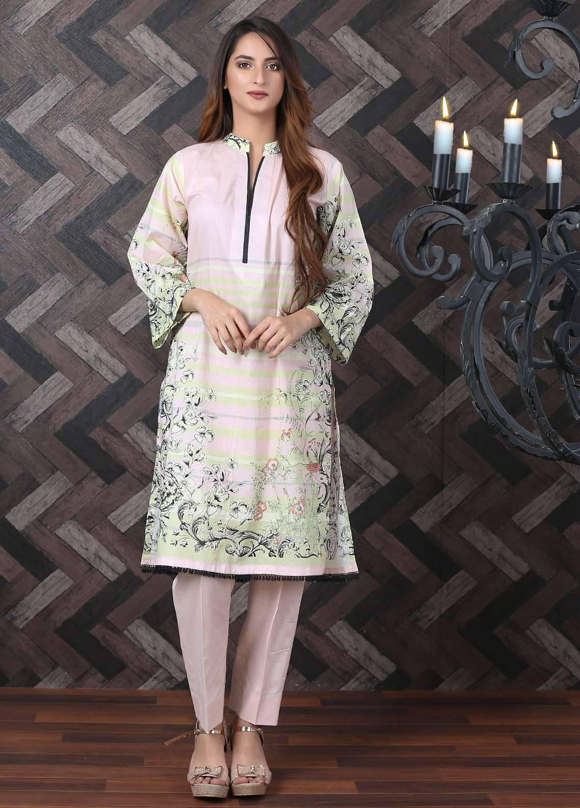 Waniya Printed Lawn Unstitched Kurties UNS-184 - Spring / Summer Collection