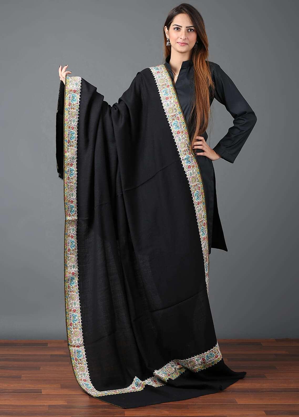 Sanaulla Exclusive Range  Pashmina Qalamkari Shawl 654 - Kashmiri Shawls