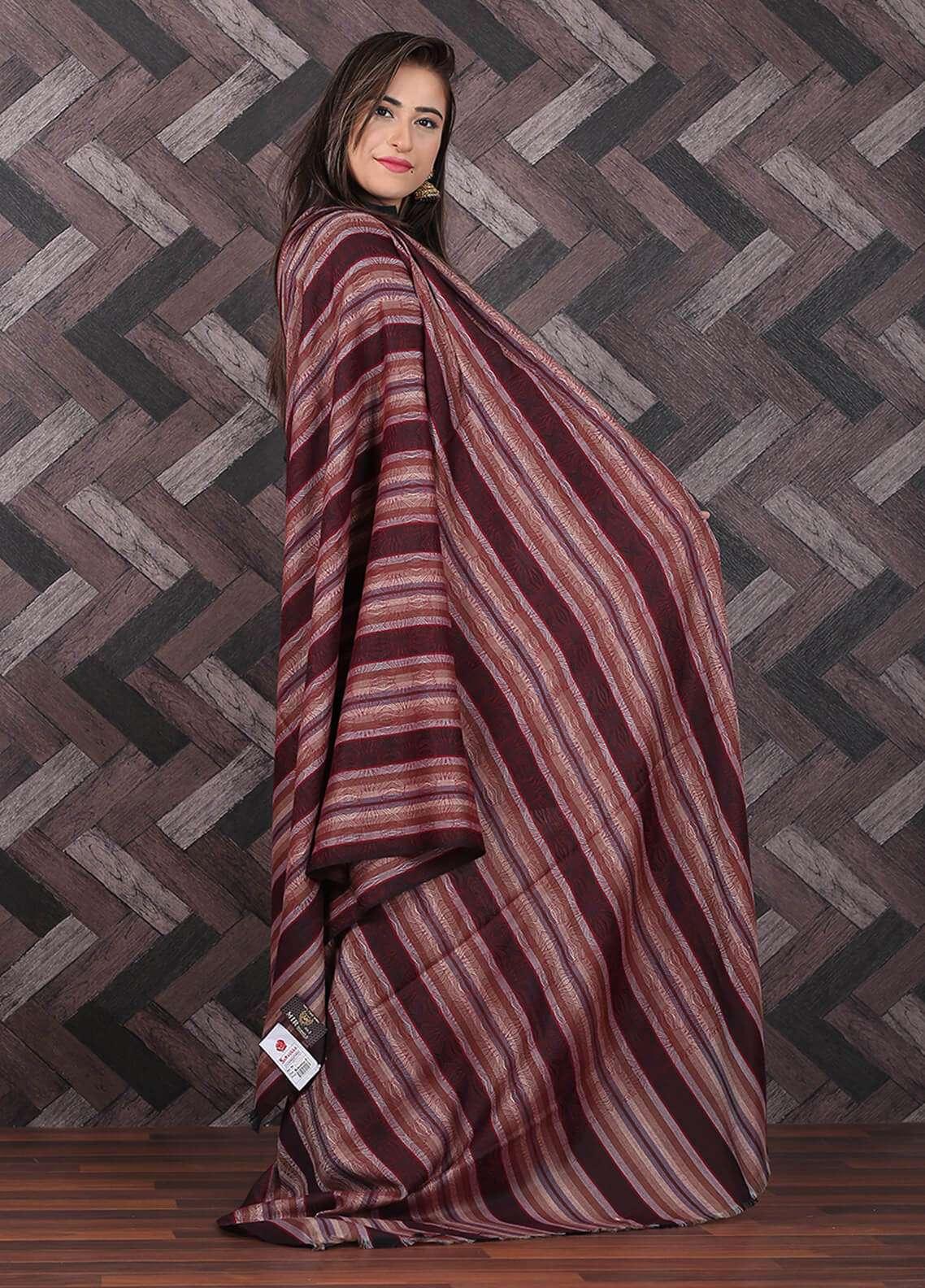 Sanaulla Exclusive Range Pashmina Shawl 687 - Kashmiri Shawls