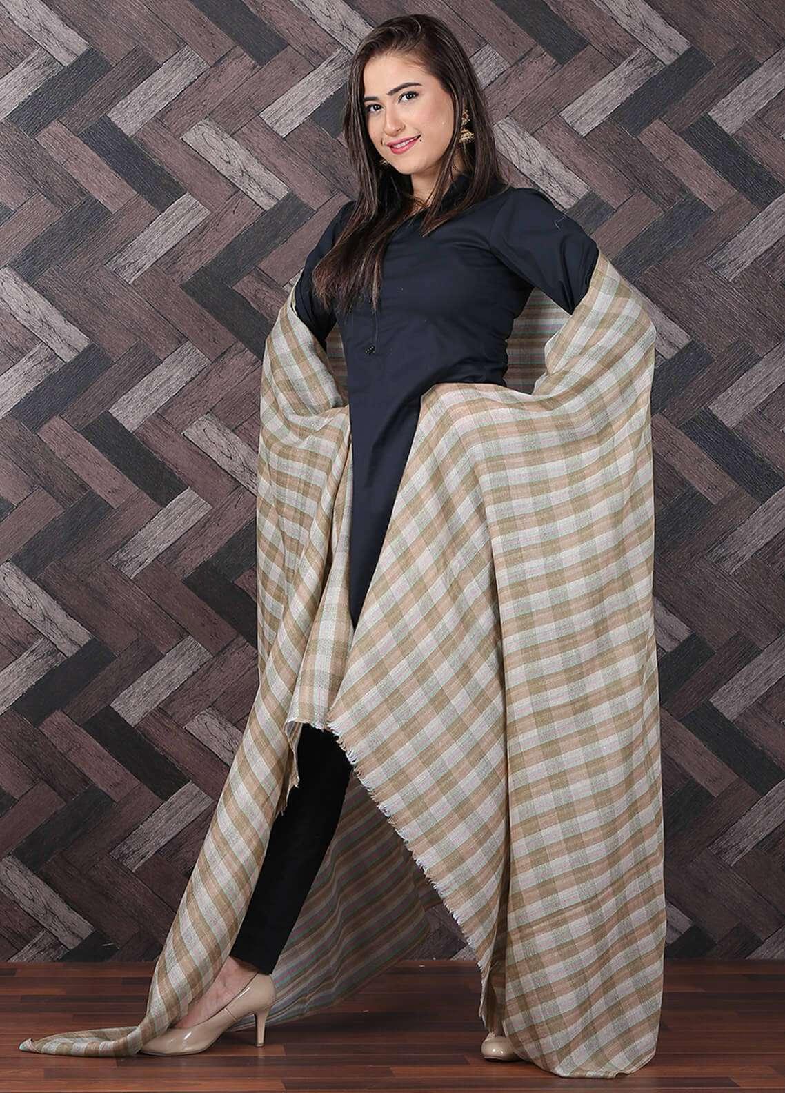 Sanaulla Exclusive Range Pashmina Shawl 689 - Kashmiri Shawls