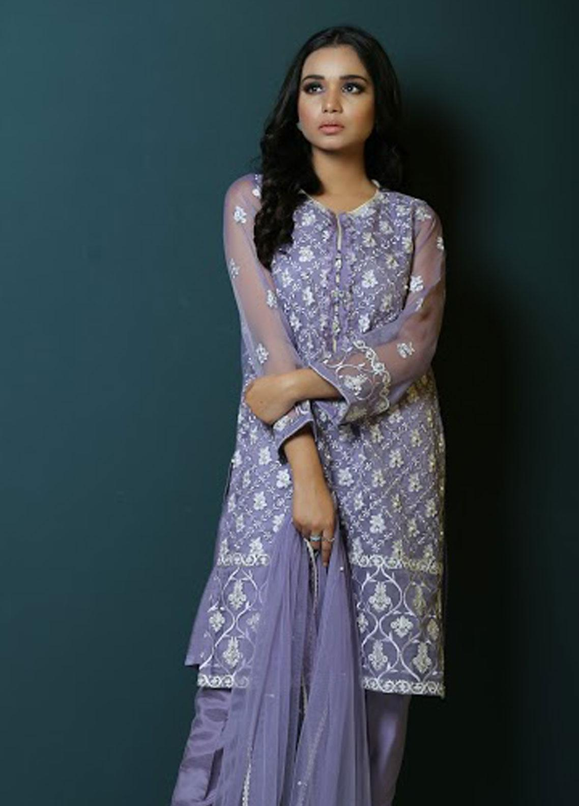 Asma Emran Embroidered Organza Stitched 3 Piece Suit EP-005 Floral Mania