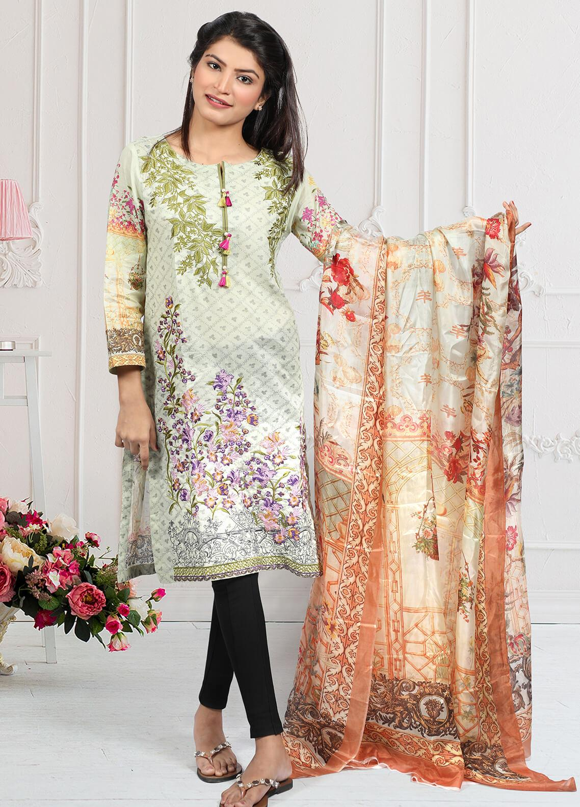 Waniya Embroidered Lawn Stitched 2 Piece Suit LEP-017