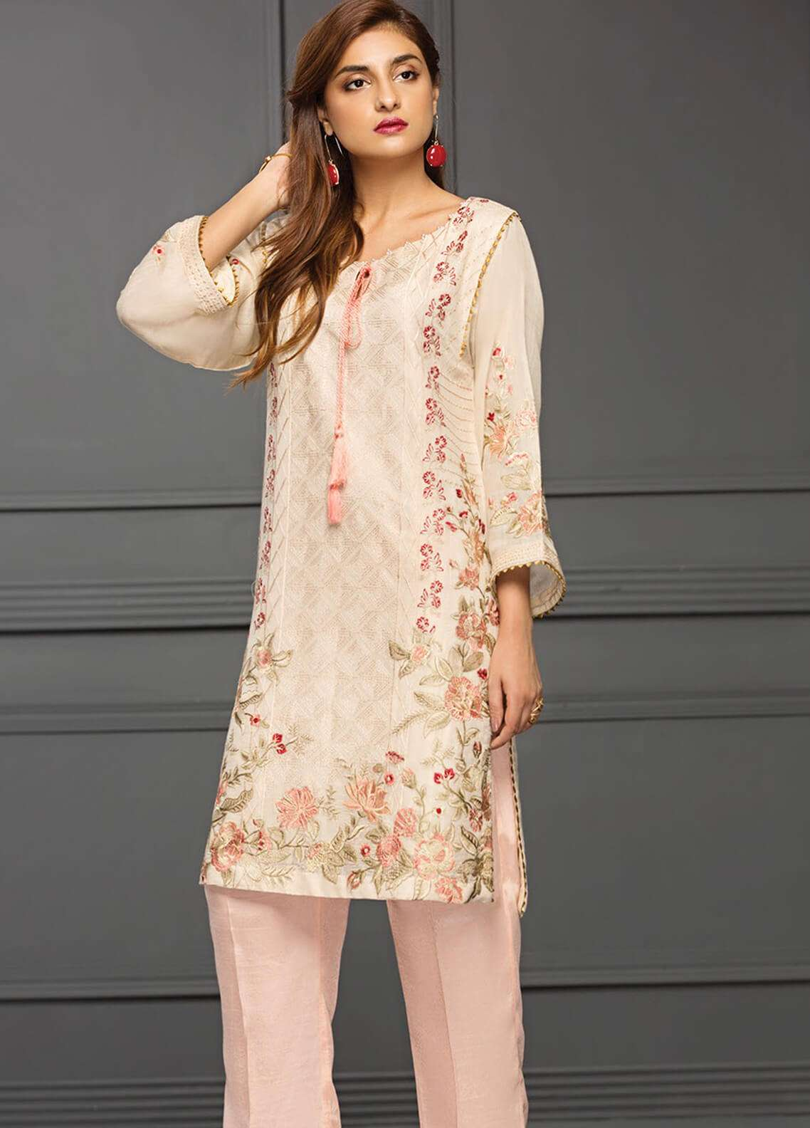 XENIA Formals Embroidered  Stitched Kurtis XE18-P2 11