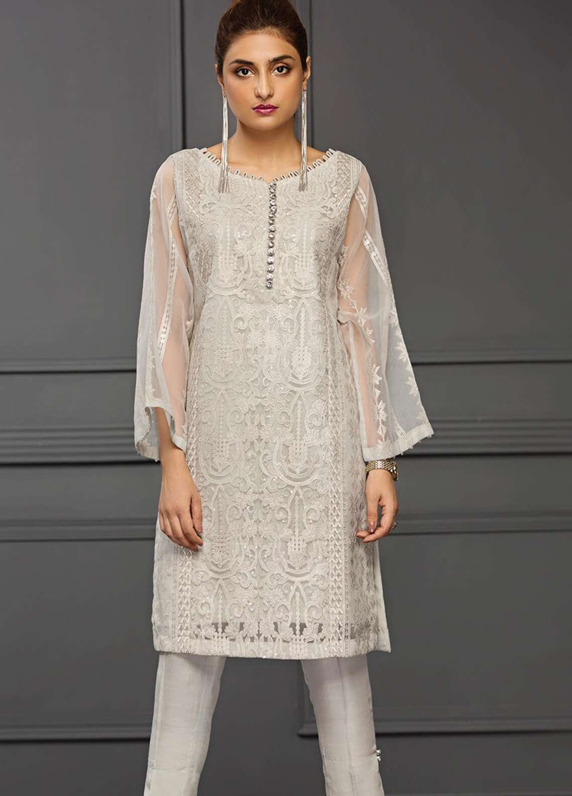 XENIA Formals Embroidered  Stitched Kurtis XE18-P2 12
