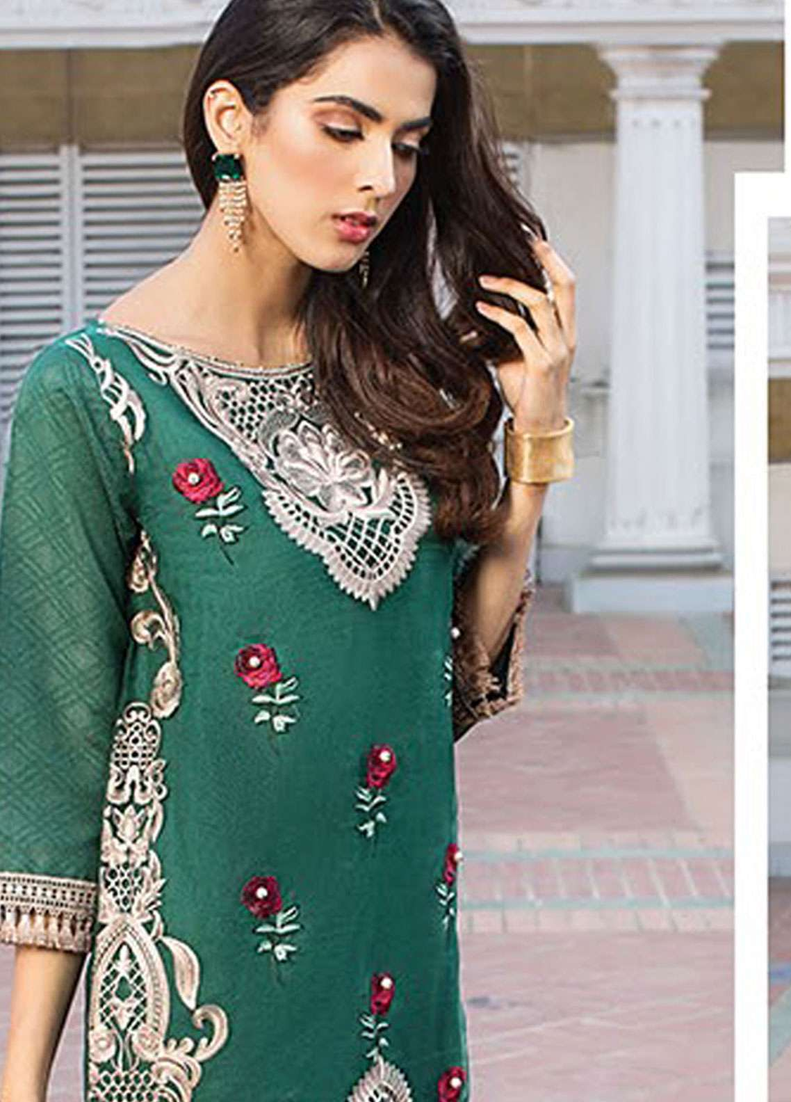 Xenia Formals Embroidered Organza Stitched 2 Piece Suit XE19-P5 06 KAREL