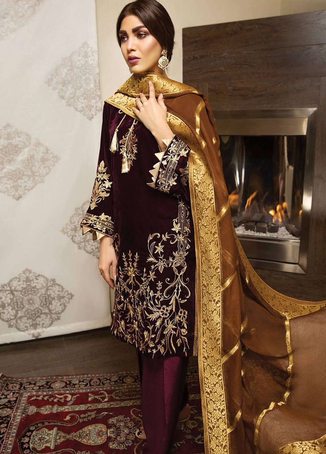 XENIA Formals Embroidered  Stitched 3 Piece Suit XE18-P3 XV02