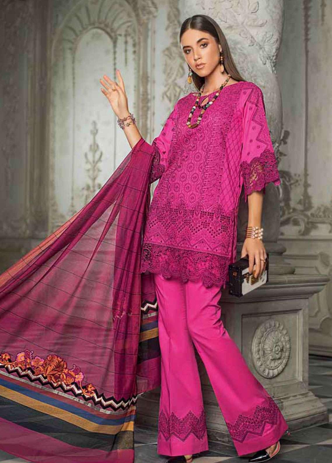 Zainab Chottani Embroidered Chikankari Unstitched 3 Piece Suit ZC19CK 2B URBAN OXIDE - Luxury Collection