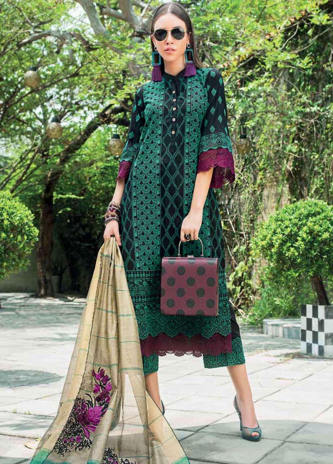 Zainab Chottani Embroidered Chikankari Unstitched 3 Piece Suit ZC19CK 4A GOLD GARDINO - Luxury Collection
