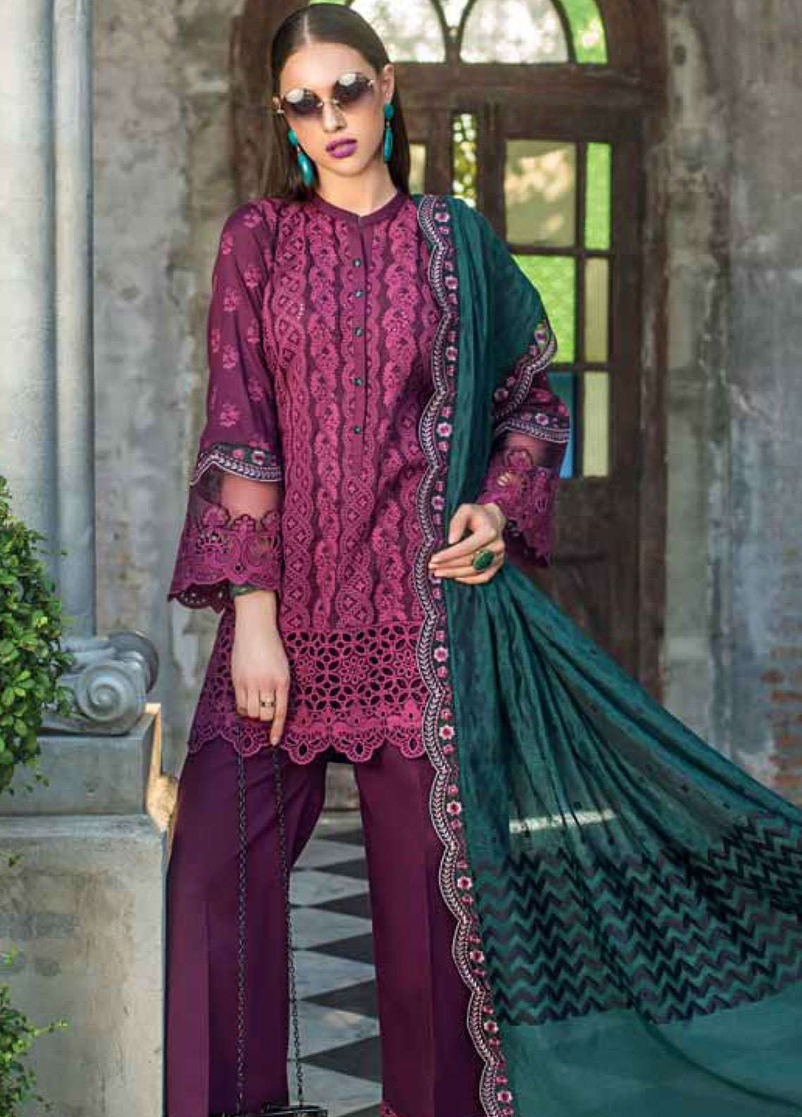 Zainab Chottani Embroidered Chikankari Unstitched 3 Piece Suit ZC19CK 5B COLOURSCAPE FUSION - Luxury Collection