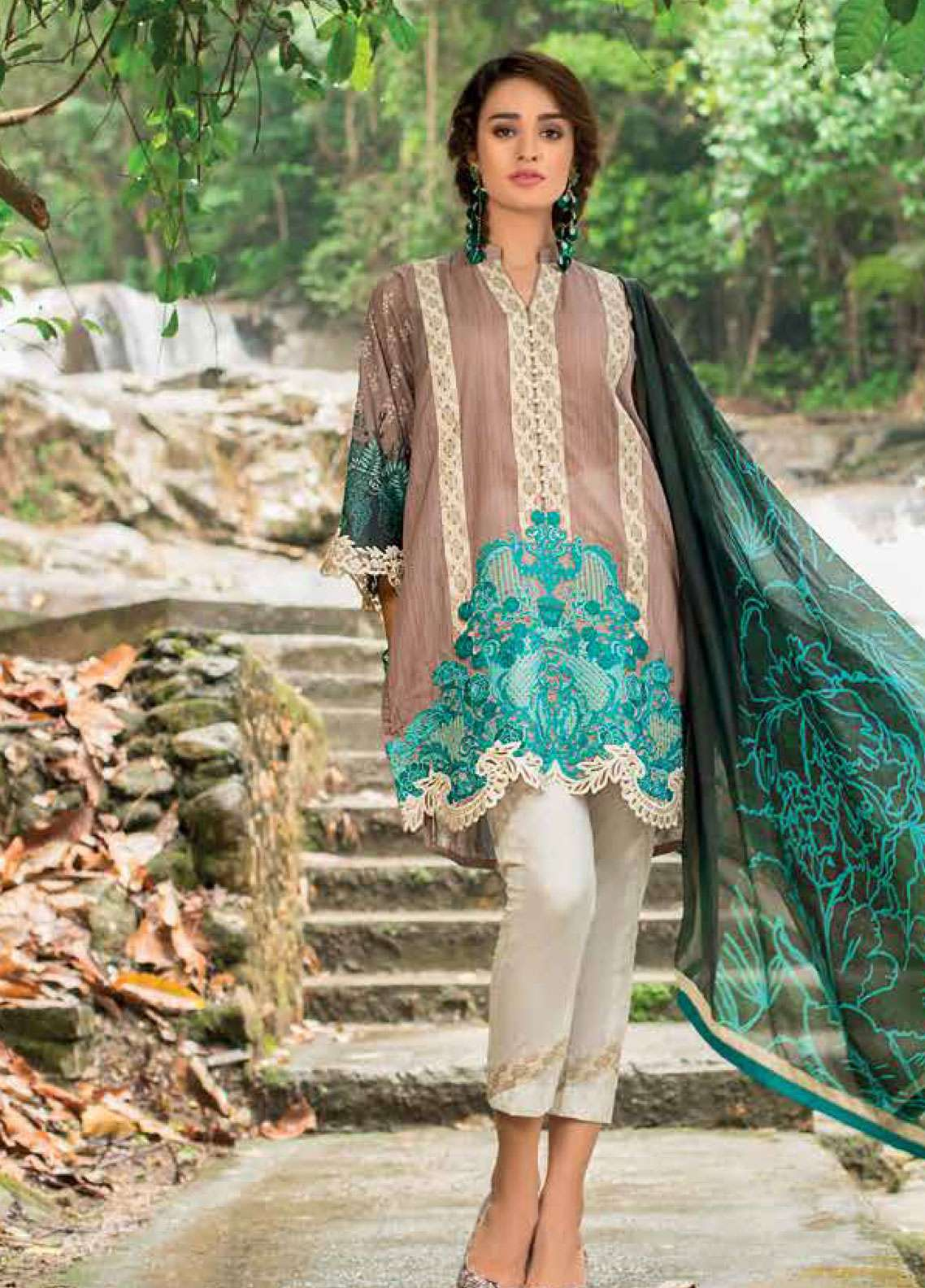 Zainab Chottani Embroidered Lawn Unstitched 3 Piece Suit ZC19L 5A MYSTIC ALLURE - Spring / Summer Collection