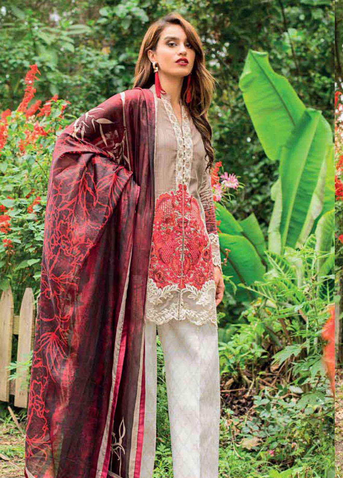 Zainab Chottani Embroidered Lawn Unstitched 3 Piece Suit ZC19L 5B MYSTIC ALLURE - Spring / Summer Collection