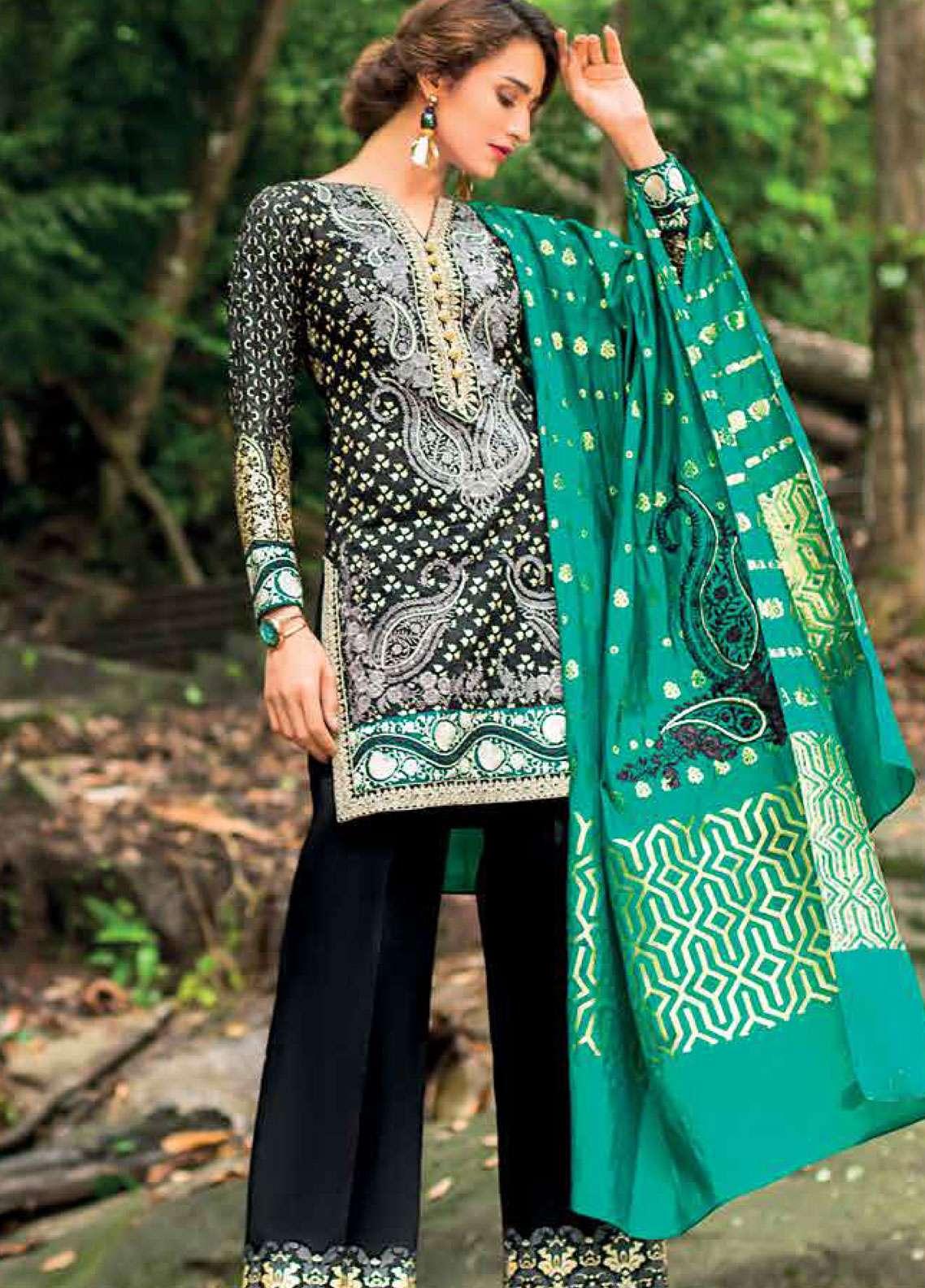 Zainab Chottani Embroidered Lawn Unstitched 3 Piece Suit ZC19L 9B MARIGOLD JARDIN - Spring / Summer Collection