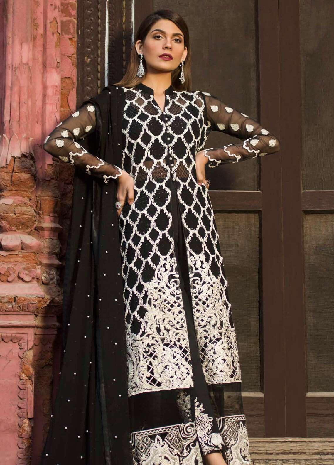 Zainab Chottani Embroidered Chiffon Unstitched 3 Piece Suit ZC19W 04 - Wedding Collection
