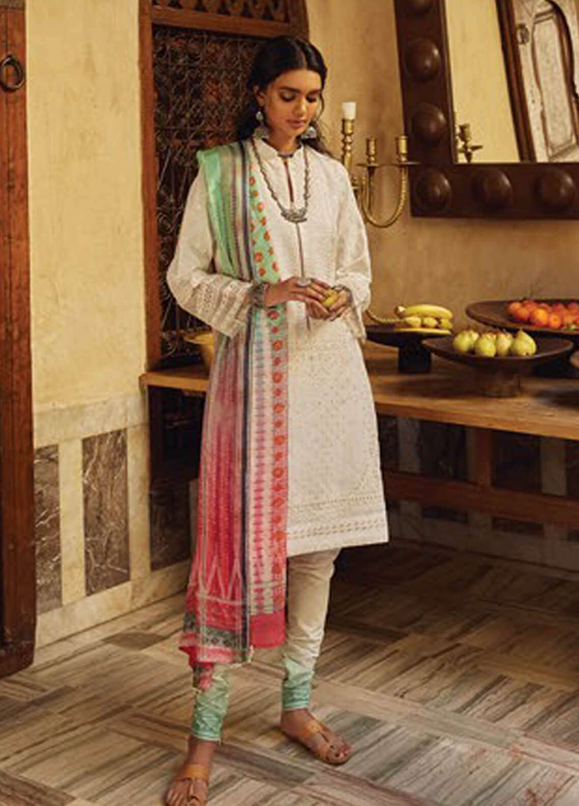 cedf6410cec Zara Shahjahan Embroidered Lawn Unstitched 3 Piece Suit ZSJ19L LUCKNOW A -  Spring   Summer Collection