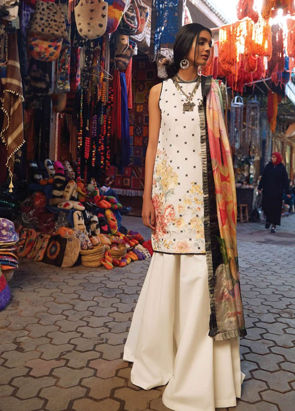 Zara Shahjahan Embroidered Lawn Unstitched 3 Piece Suit ZSJ19L SHAAM A - Spring / Summer Collection
