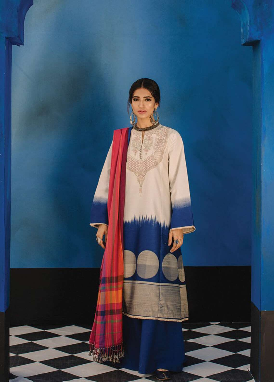 Zara Shahjahan Embroidered Jacquard Unstitched 3 Piece Suit ZSJ19L SOHNI B - Spring / Summer Collection