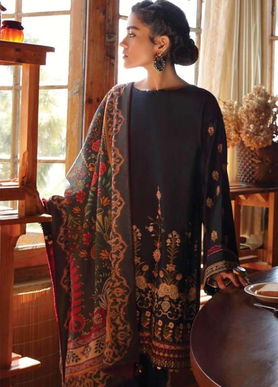 Zara Shahjahan Embroidered Karandi Unstitched 3 Piece Suit ZS18W ARSH - Winter Shawl Collection