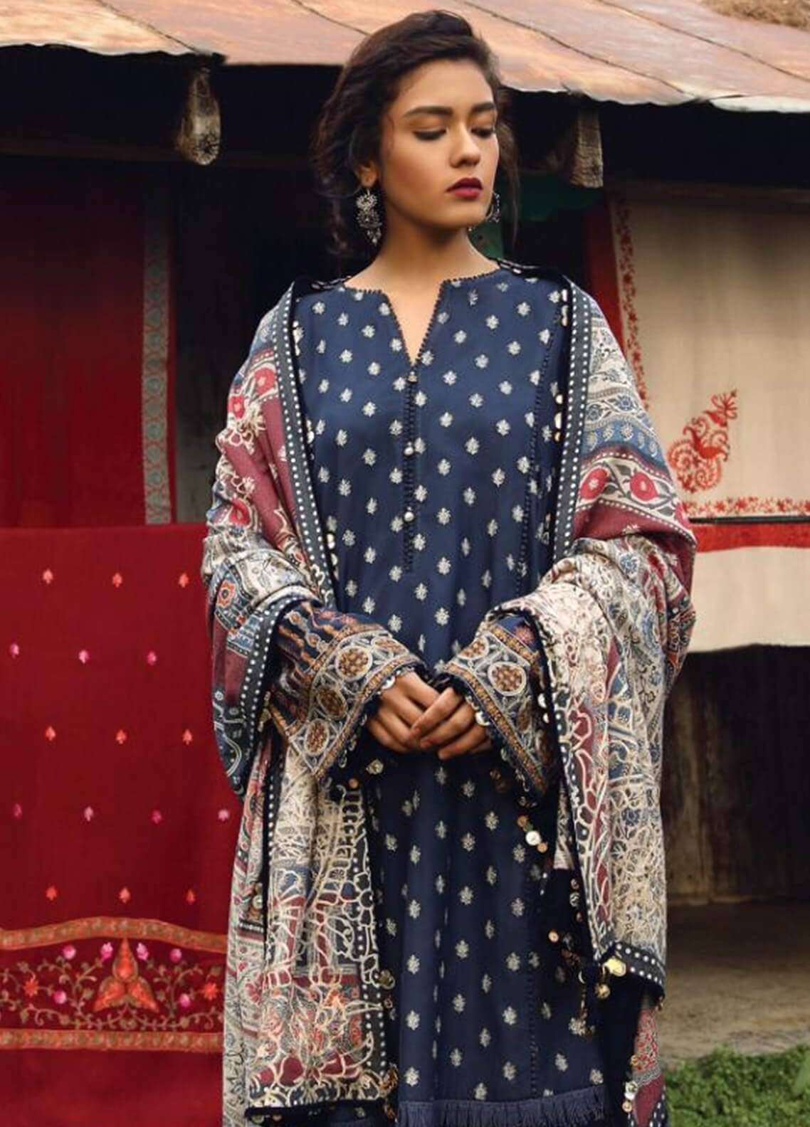 Zara Shahjahan Embroidered Karandi Unstitched 3 Piece Suit ZS18W FEROZA - Winter Shawl Collection