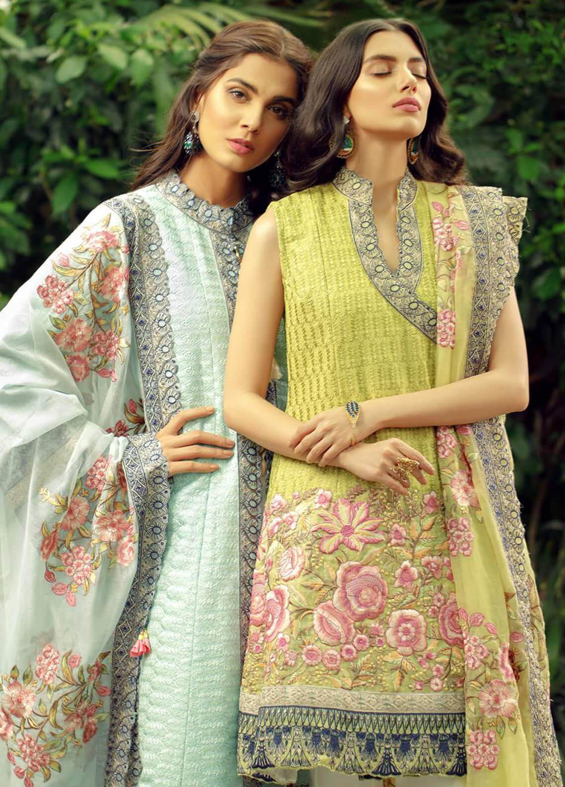 Zarqash Embroidered Lawn Unstitched 3 Piece Suit ZRQ19L 3B - Festive Collection