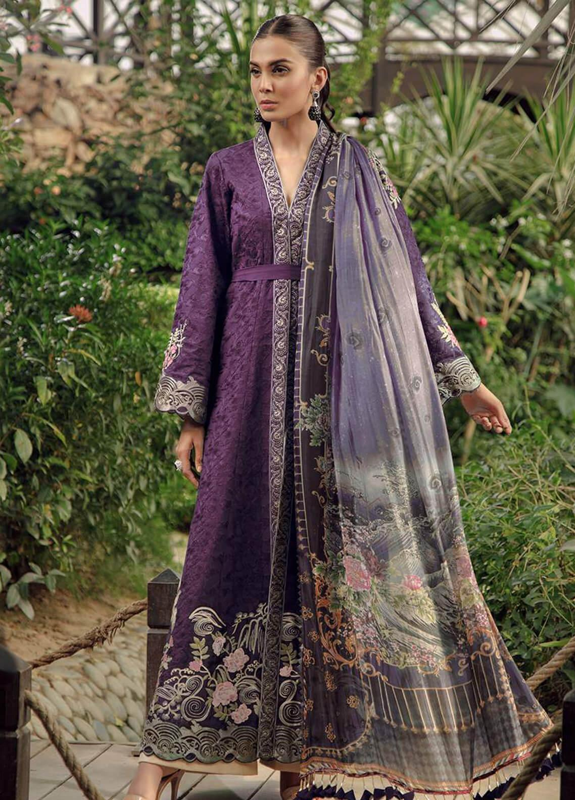 Zarqash Embroidered Lawn Unstitched 3 Piece Suit ZRQ19L 6B - Festive Collection