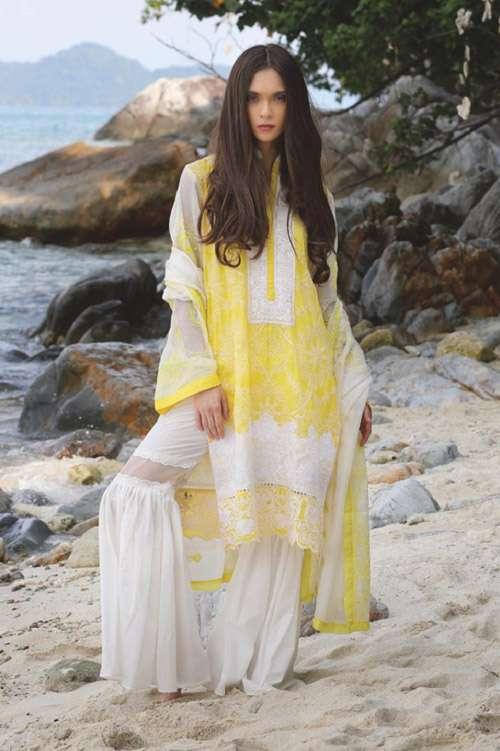 ZUNUJ Embroidered Cotton Unstitched 3 Piece Suit ZJ17E 04