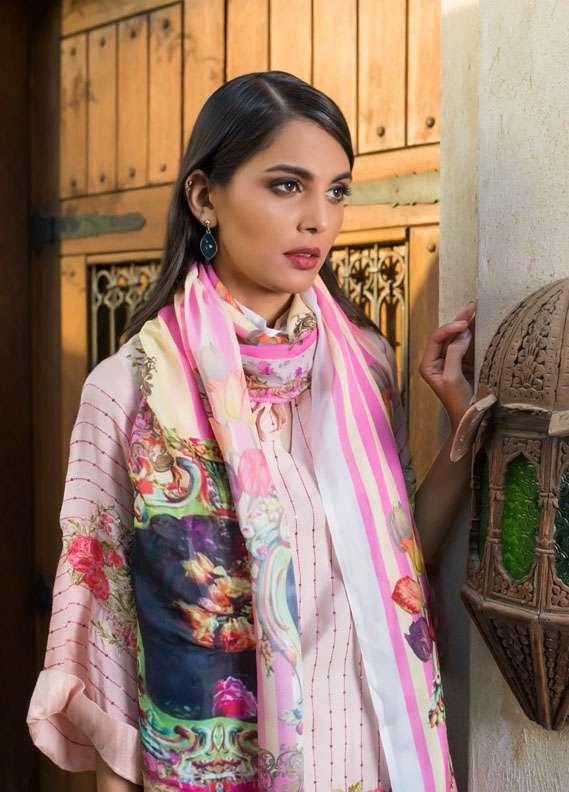 Veena Durrani Embroidered Chiffon Unstitched 2 Piece Suit ZO17C1 13A