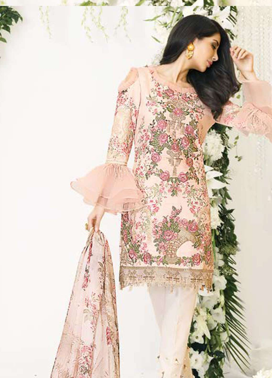 Zarqash Embroidered Lawn Unstitched 3 Piece Suit ZQ18L 7A - Spring / Summer Collection