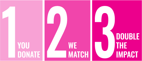 You Donate. We Match. Double Impact!